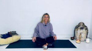 Amy Yoga seated meditation